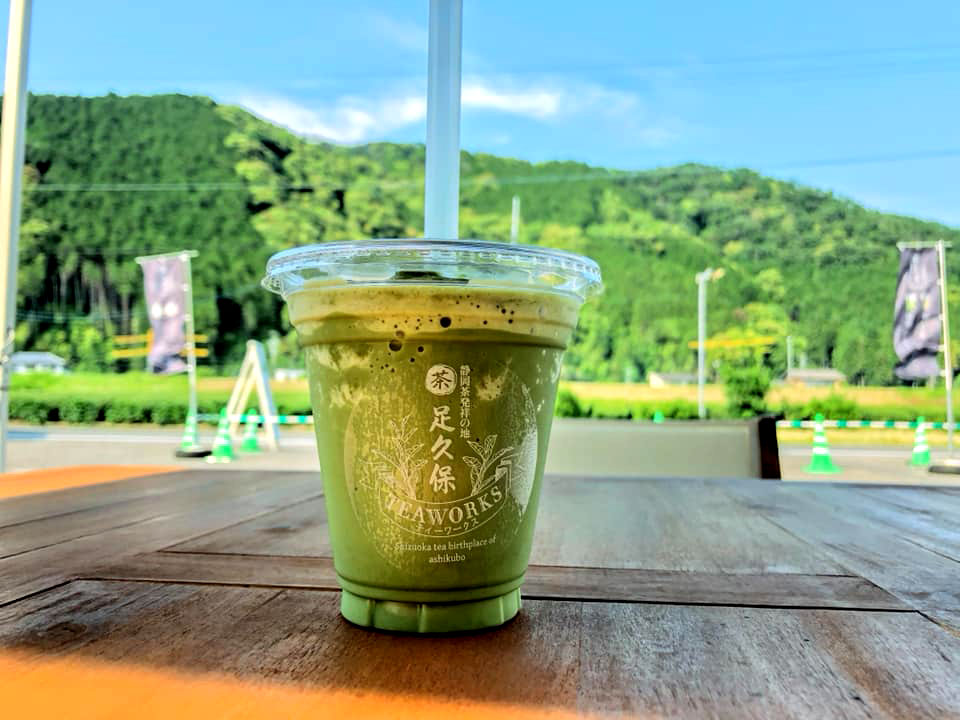 ティーワークスカフェ人気No.1の煎茶フローズン(足久保ティーワークス提供)
